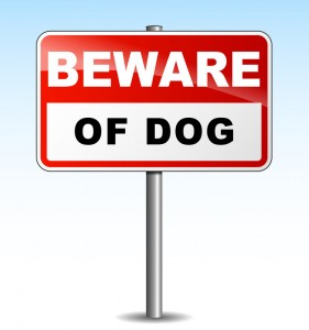 Vector beware dog illustration